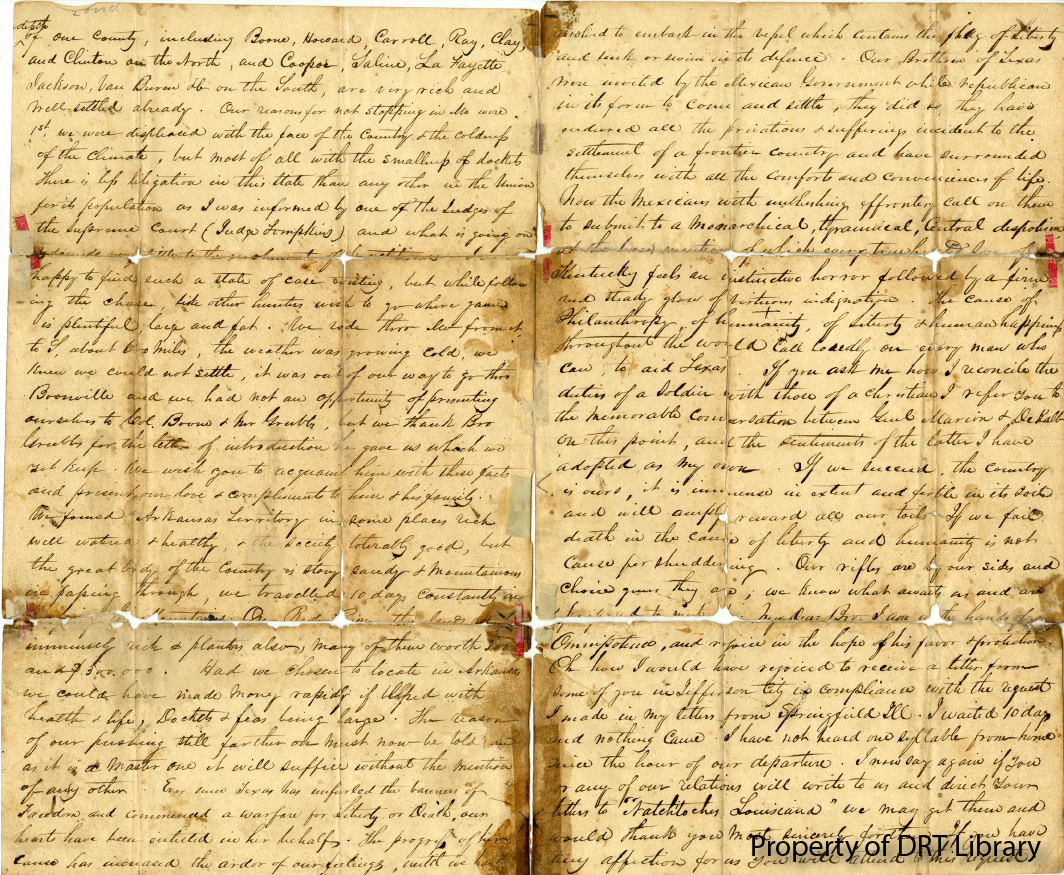 Second and third pages of Cloud's letter.